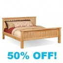 Yvette Oak 5ft Kingsize Bed