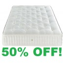 4ft Small Double 1000 Spring Pocket Sprung Mattress - MEDIUM FIRM