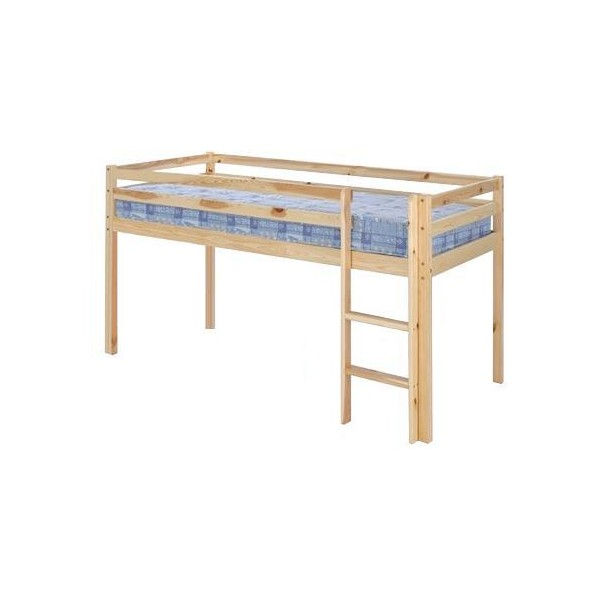 Single Bunk Bed : SINGLE 3FT ALPHA BUNK BED IN NATURAL PINE (Product ID: 265)