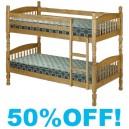Single Bunk Bed 3ft Delta Pine Wood