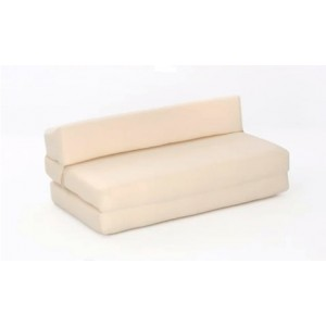 Double Chair CREAM Sofa Bed Cotton Drill Golf