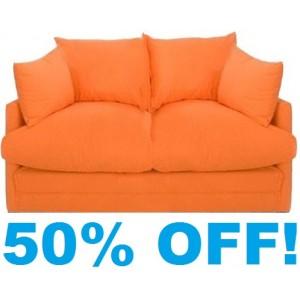 Shabby Chic Sofa Bed In Orange