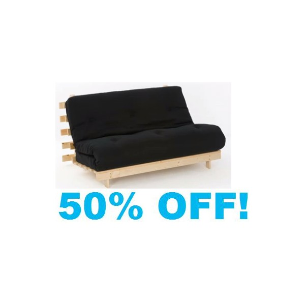 double black futon 4ft 6in wood base mattress double black futon  rh   furnitureforliving