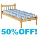 Alpha Wooden Bed Frame - 3ft Single