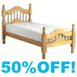 Country Style Republic Wooden 3ft Single Bed