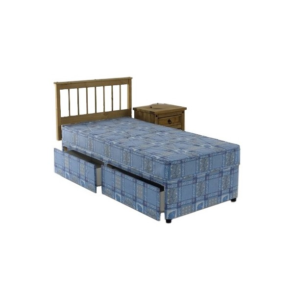 2ft6 single divan bed set for Single two drawer divan bed