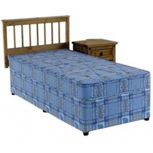 2ft6 Single Divan Bed Set  NO STORAGE Bravo Deep Quilted Mattress