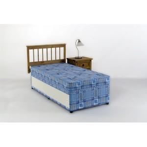 2ft6 Single Divan Bed Set  SLIDE STORAGE Hand Tufted Mattress