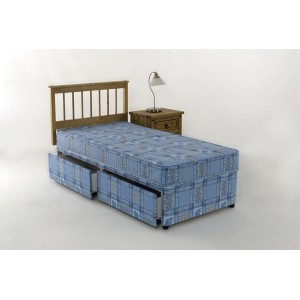 3ft Bravo Single Divan Bed 2 DRAWERS Deep Quilted Mattress