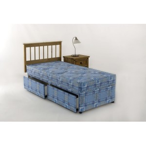 3ft Single Divan Bed 2 Drawer Storage Hand Tufted Mattress
