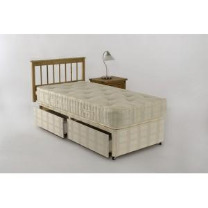 3ft Standard Orthopeadic Pillow Top 2 Drawer Storage Divan Set
