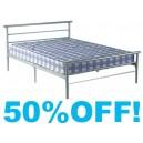 4ft6 Quebec  Metal Bed Frame