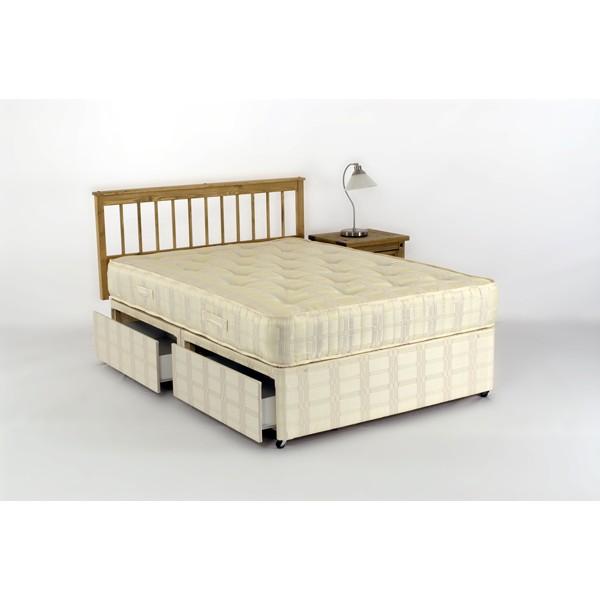 4ft orthopeadic tufted 4drawers storage divan set for 4ft divan bed with storage