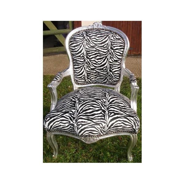 Zebra Print Chair With Silver Frame Furnitureforliving Com