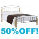 4ft6 Zenna Metal Bed Frame - By Julian Bowen