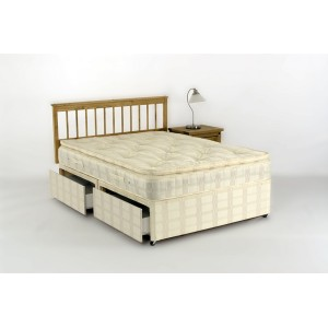 Sabrina 4ft6 Orthopeadic Pillow Top Divan Set - With 4 Storage Drawers