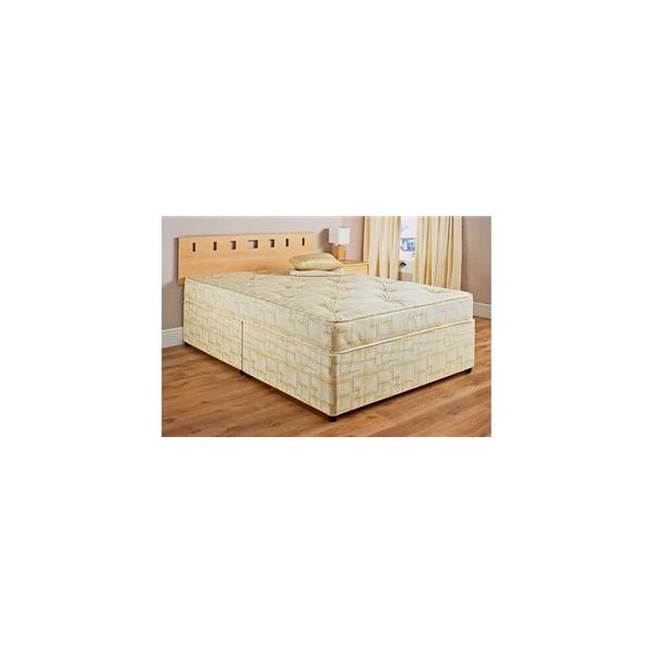 4ft6 double divan bed for Double divan bed no headboard