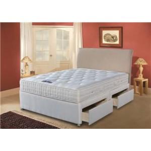 4ft6 Back Support Luxury 1400 2DRAWER Divan Set