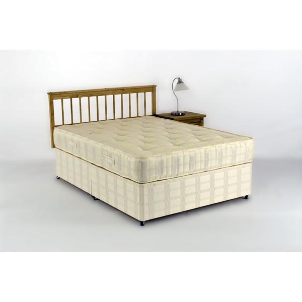 Sabrina king size divan bed and orthopeadic tufted mattress for Divan bed no mattress