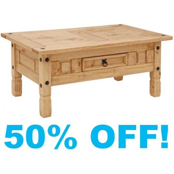 Rustic Pine Wood Coffee Table: Coffee Table In Rustic Pine