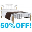 5ft Zenna Metal Bed Frame - By Julian Bowen