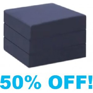 Single Chair Bed Foam Cube - With NAVY Cotton Cover