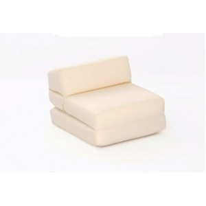 Golf Single Chair Bed for Kids - in Natural Faux Suede