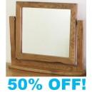 Foxy Rustic Oak Vanity Mirror