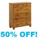 Theodore Pine (4+2) Chest of Drawers