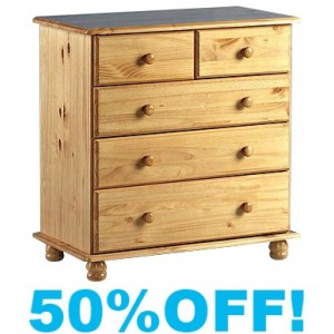 Suzette Solid Pine (3+2) Chest of Drawers
