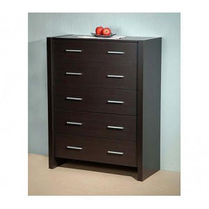 Diodore 5 Chest of Drawers - Espresso Brown