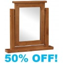 Margaux Rustic Pine Dressing Table Mirror