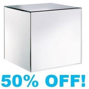 Verene Plain Mirrored Glass Cube