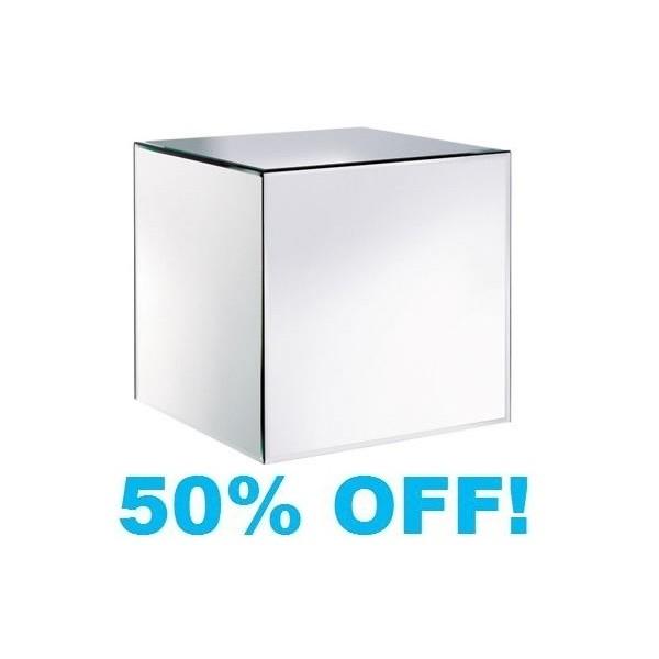 Verene plain mirrored glass cube product id 869
