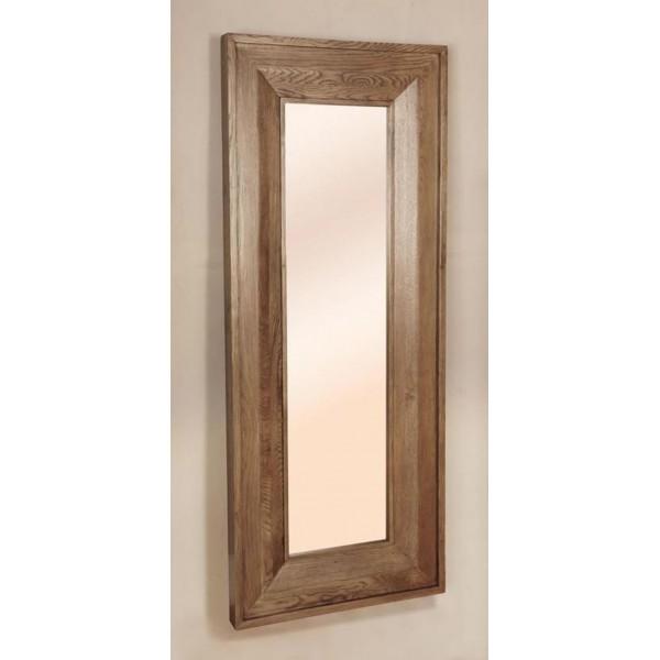 Reclaimed Oak Long Rectangular Mirror