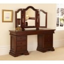 Mael Sleigh Pedestal Dressing Table with Mirror