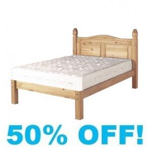 Corine Pine 5ft Kingsize Low Footend Bed